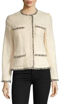 Max Mara Edo Frayed Tweed Jacket
