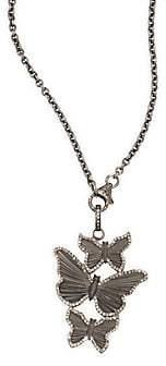 Nina Gilin Diamond Butterflies Pendant Necklace