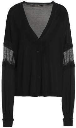 Roberto Cavalli Lace-Paneled Knitted Cardigan