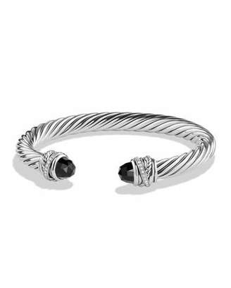 David Yurman 7mm Black Onyx & Diamond Crossover Bracelet