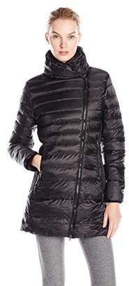 Champion Women's Performance Nylon Asymmetric-Zip Jacket with Synthetic Down $58.26 thestylecure.com