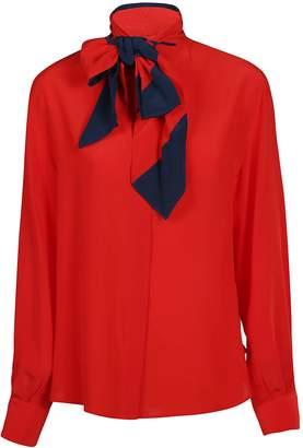 Givenchy Detachable Scarf Shirt