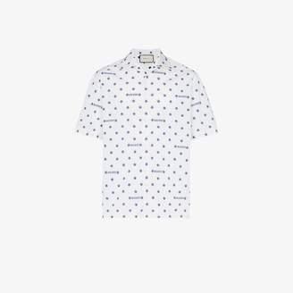 Gucci star and logo print cotton shirt