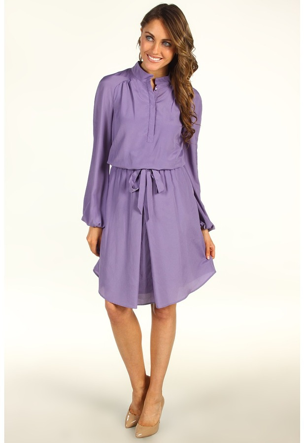 Vince Camuto High Collar Dress (Purple Haze) - Apparel