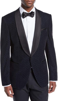 BOSS Men's Herringbone Shawl-Collar Tuxedo Jacket
