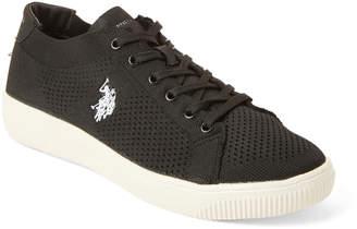 U.S. Polo Assn. Black & White Davina Knit Low-Top Sneakers