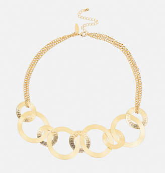 Avenue Textured Gold Ring Necklace