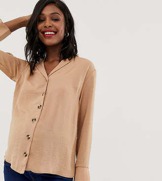 New Look Maternity revere collar shirt