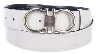 Salvatore Ferragamo Gancini Reversible Patent Leather Belt