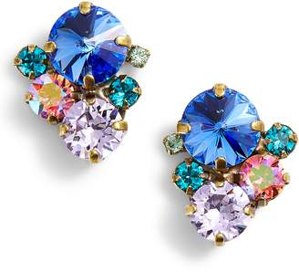 Sorrelli Assorted Round Crystal Stud Earrings