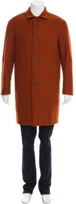 Wooyoungmi Wool Notch-Lapel Overcoat