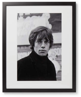 Sonic Editions Framed 1964 Mick Jagger In Soho, London Print, 17 X 21