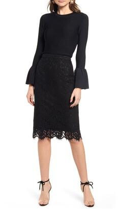 Rachel Parcell Lace Pencil Skirt