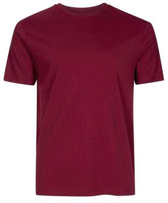 Topman Mens Red Burgundy Slim Fit T-Shirt