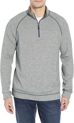 Tommy Bahama On the Doubles Mock Neck Quarter Zip Pullover
