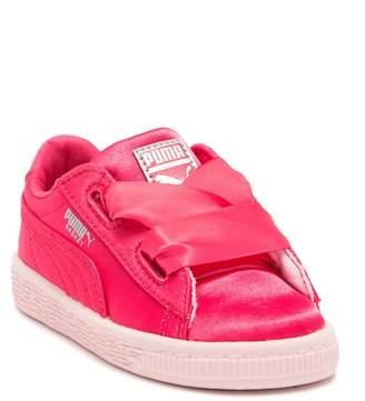 Puma Basket Heart Satin Sneaker (Baby & Toddler)