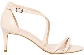 Le Château Women's Criss-Cross Mid Heel Sandal