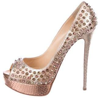 a9789b78fb Pre-Owned at TheRealReal · Christian Louboutin ady Peep Spike 150 Pumps