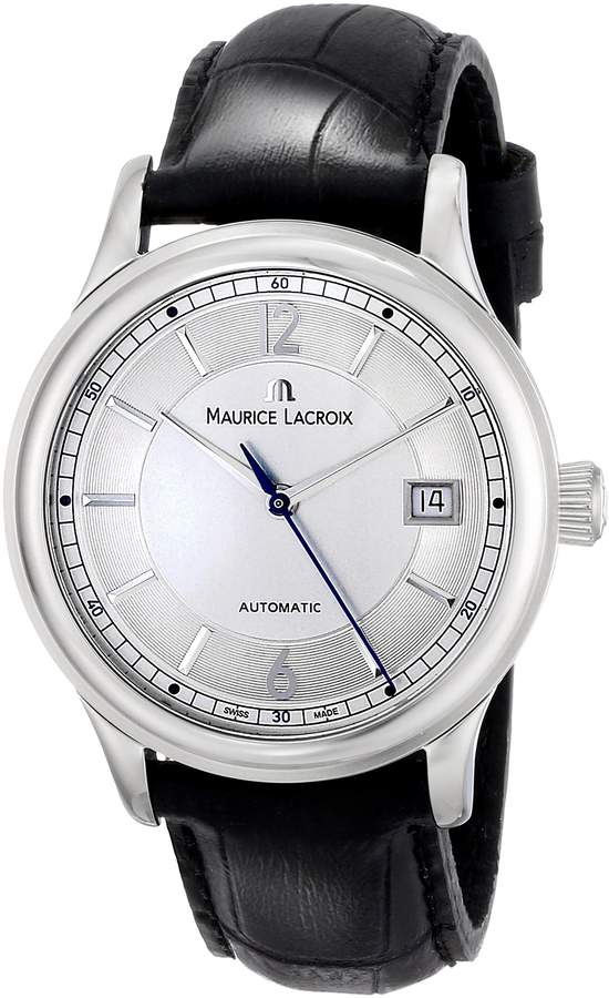 Maurice Lacroix Men's LC6027-SS001-120 Les Classiques Analog Display Swiss Automatic Black Watch