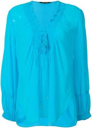 Roberto Cavalli laced neck blouse