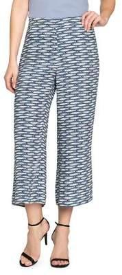 Nic+Zoe Big Sea Fish-Print Wide-Leg Pants