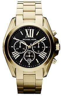 Michael Kors Women's Chronograph Goldtone IP Stainless Steel Bracelet Watch