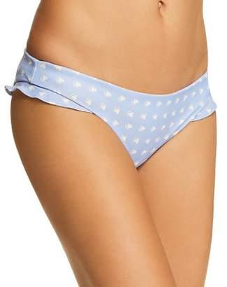 For Love & Lemons Heart Throb Ruffle Bikini Bottom