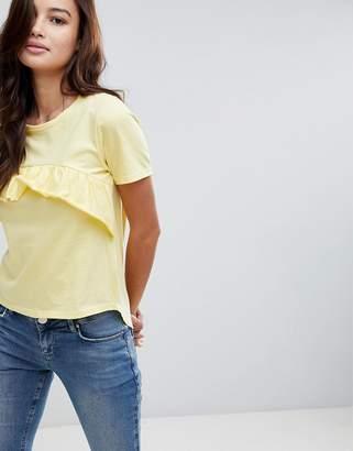 Brave Soul Maisy Frill Front T Shirt