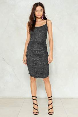 Nasty Gal Never Gonna Give You Up Glitter Dress