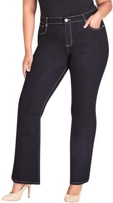City Chic Dark Wash Bootcut Jeans