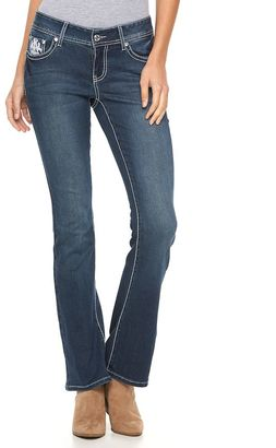 Women's Apt. 9® Embroidered Rhinestone Bootcut Jeans $64 thestylecure.com