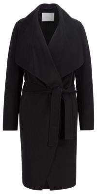 BOSS Hugo Waterfall coat in a double-faced wool 2 Open Blue