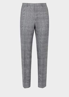 Versace Silk-Wool Blend Tapered Pants