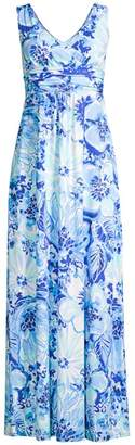 Lilly Pulitzer Sloane V-Neck Floral Maxi Dress