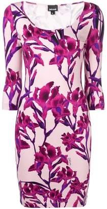 Just Cavalli floral fitted mini dress