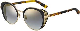 ed60762bb593 at Bergdorf Goodman · Jimmy Choo Gabby Mirrored Metal   Acetate Cat-Eye  Sunglasses
