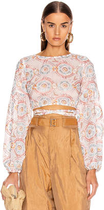 Atoir Love Sick Crop Top in Sunset Embroidery | FWRD