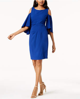 Jessica Howard Cold-Shoulder Shift Dress