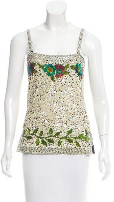 Jean Paul Gaultier Sleeveless Sequin Top w/ Tags $375 thestylecure.com