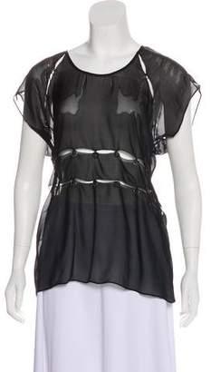 Vena Cava Accented Short-Sleeve Blouse