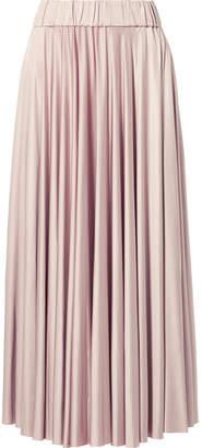 Co Stretch-satin Jersey Midi Skirt