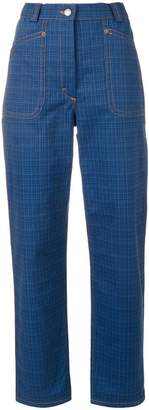 J.W.Anderson check print trousers