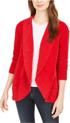 Style&Co. Style & Co Knit Chenille Shawl Collar Cardigan