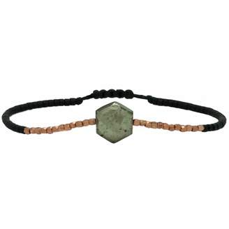 LeJu London - Hexagon Bracelet With Pyrite Semi Precious Stone And Rose Gold Filled