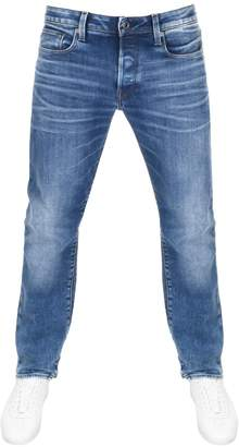 G Star Raw 3301 Straight Fit Jeans Blue