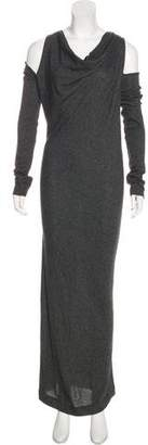 Donna Karan Cold-Shoulder Maxi Dress