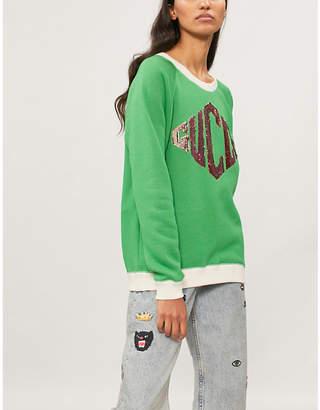Gucci Sequin-trimmed cotton-jersey sweatshirt