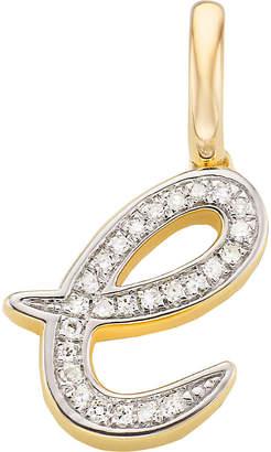 Monica Vinader 18ct yellow-gold vermeil and diamond alphabet pendant e