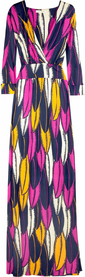 Matthew Williamson Leaf print maxi dress
