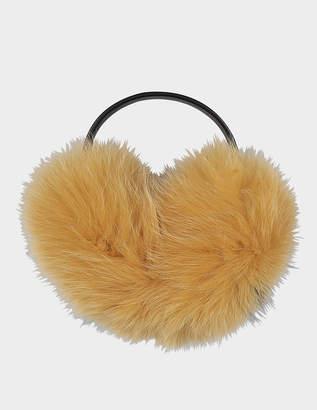 Anya Hindmarch Smiley ear muffs in fox fur